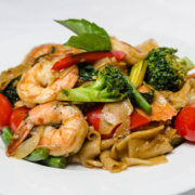 thai-food-with-shrimp-broccoli-and-tomatoes